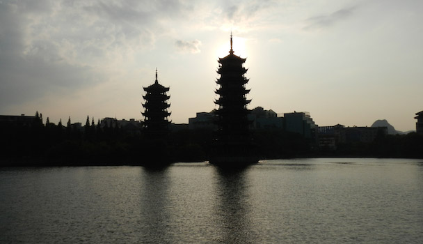 Guilin Sun en Moon pagodes
