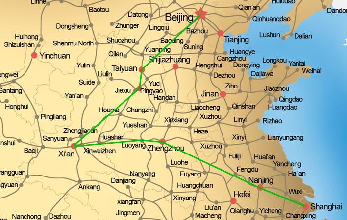 Van Shanghai naar Beijing