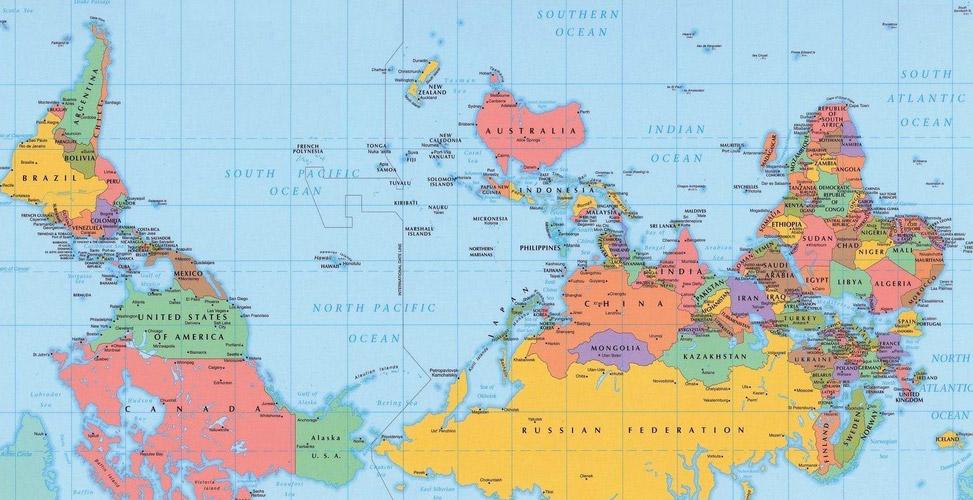 Australische wereldkaart