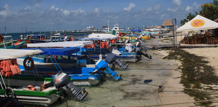 De haven van Isla Mujeres