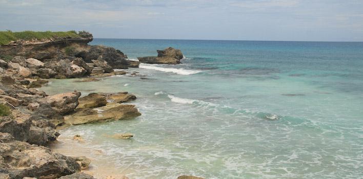Rotsen oostkust Isla Mujeres