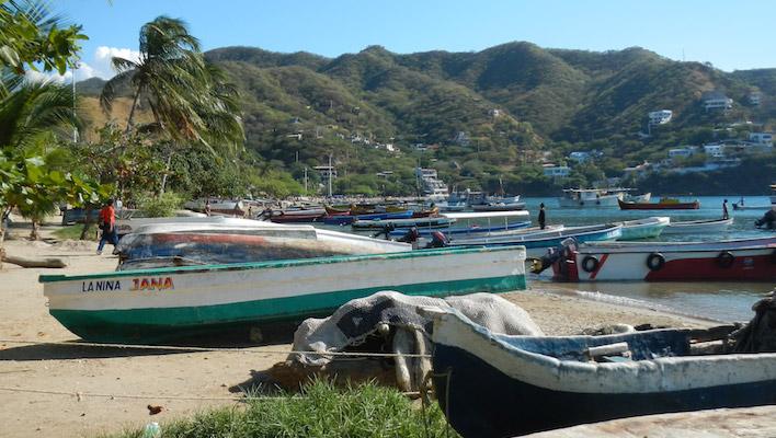Taganga vissersbootjes
