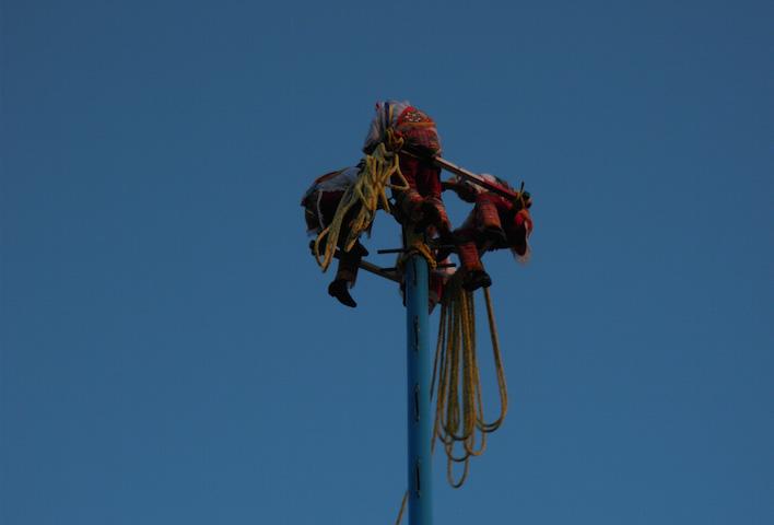 Voladores Mexicaanse acrobaten