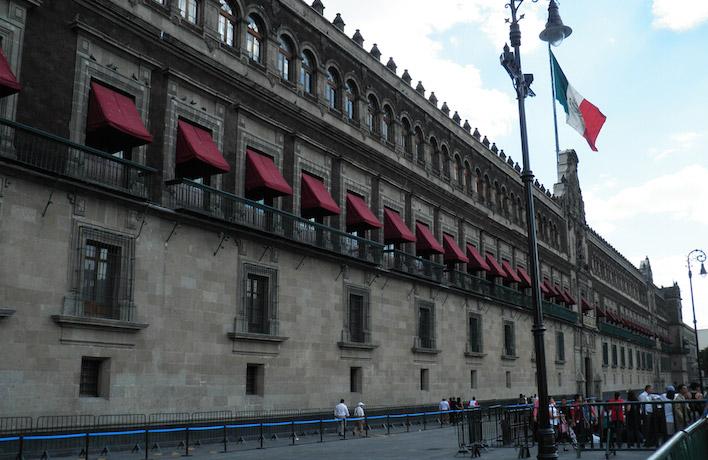 Zocalo en Palacio Nacional