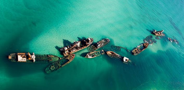 Moreton eiland scheepswrakken