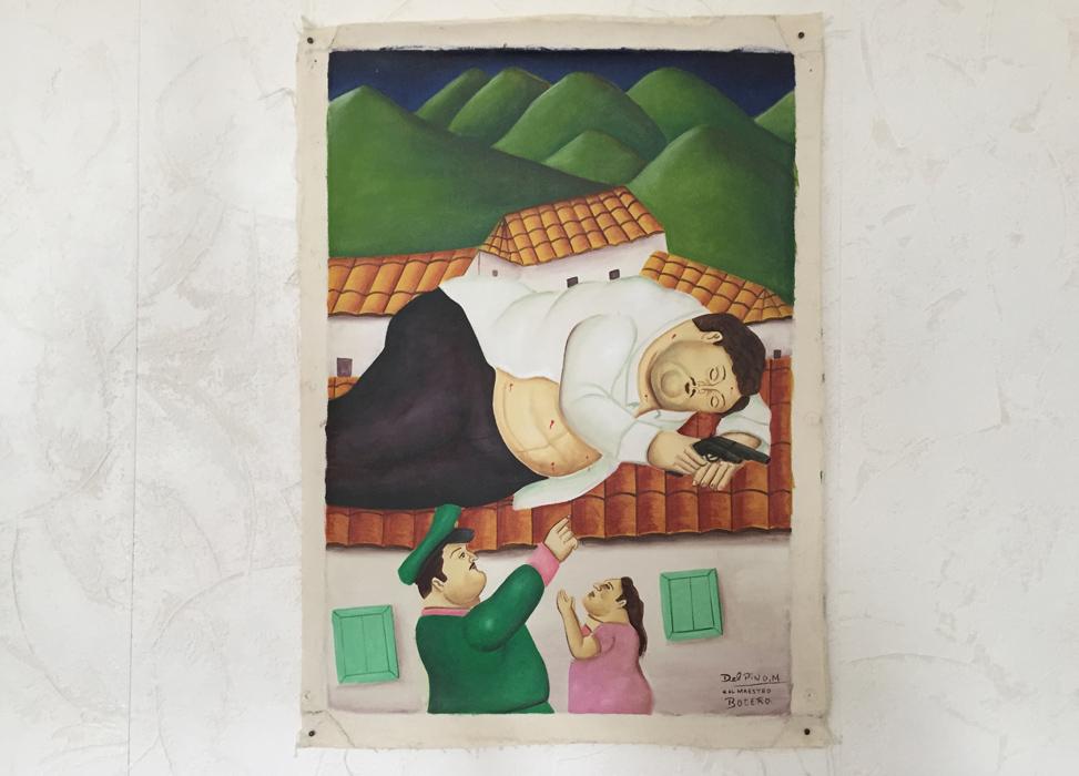 Pablo Escobar Botero art