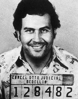Pablo Escobar politiefoto