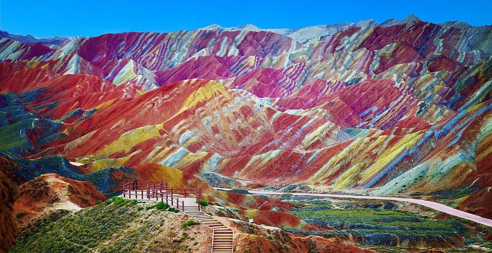 Regenboog bergen China