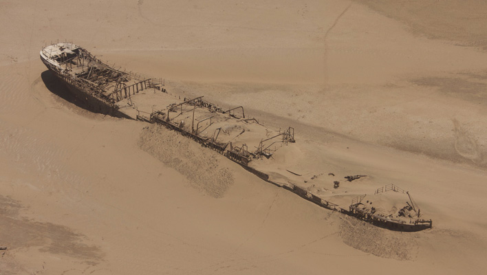 Schipwrak skelleten kust Namibie