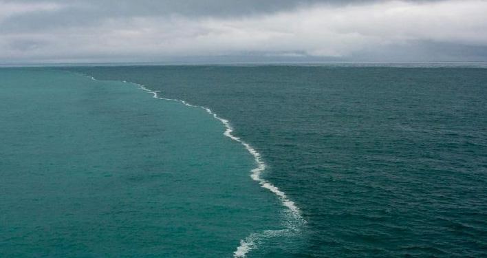 Twee oceanen nabij Alaska
