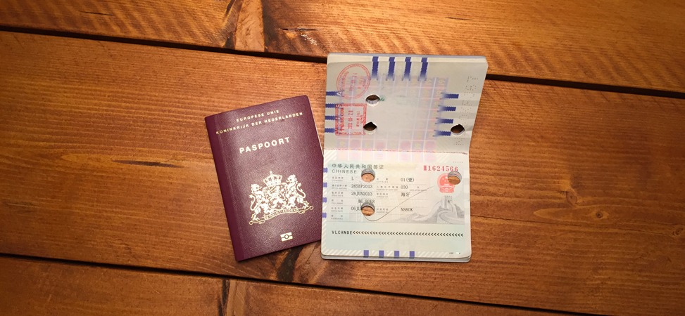 Visum China aanvragen Nederlands Paspoort