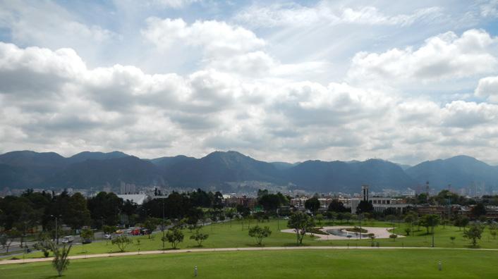 Uitzicht Bogota Colombia