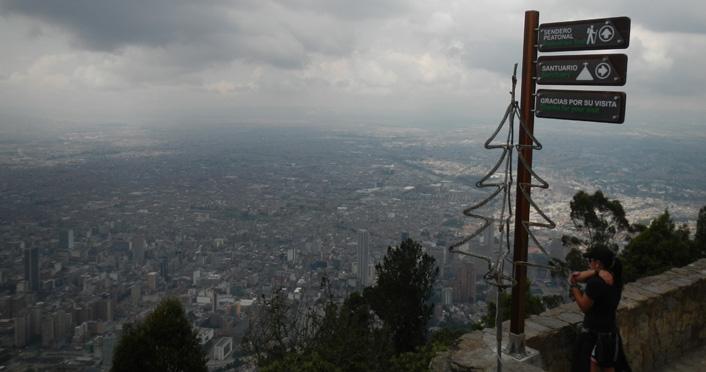 Bogota uitzicht vanaf Montserrat