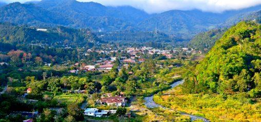 Uitzicht over het dal van Boquete