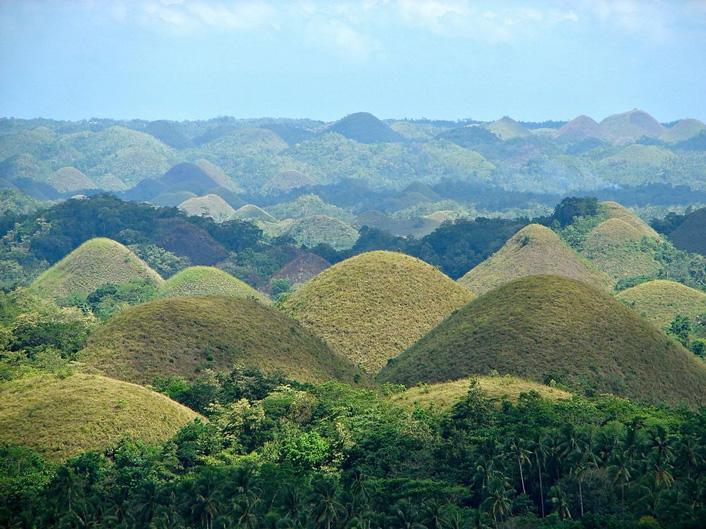 Chocolade heuvels van het eiland Bohol