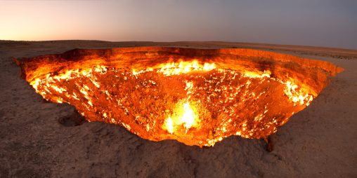 Doorway to hell in Turkmenistan