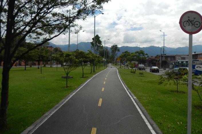 Fietsroutes in Bogota