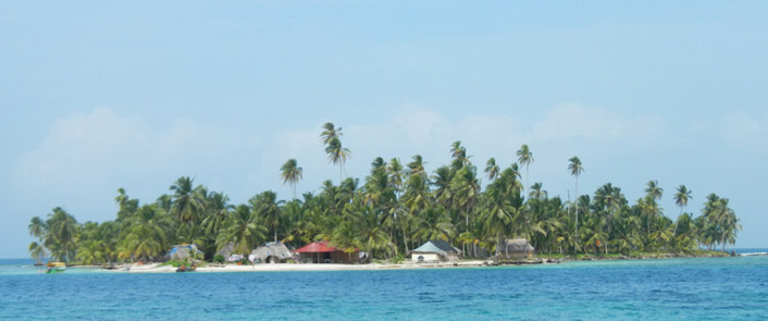 Robinson eiland in San Blas