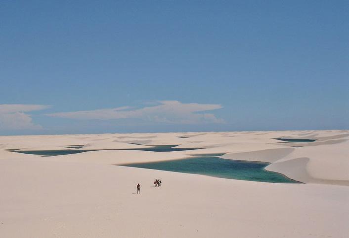 Lencois Maranhensen woestijn in Brazilie