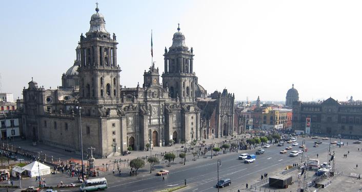 Mexico stad het centrale plein