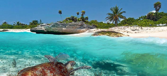 Playa del Carmen en het eiland Cozumel