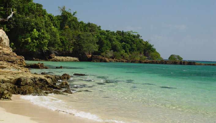 Stranden van Isla Del Rey Panama
