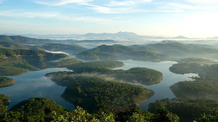 Uitzichtpunt Dalat Vietnam