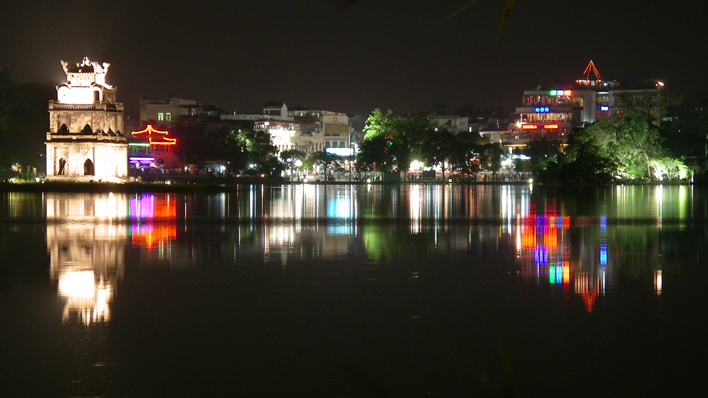 Hanoi in de nacht