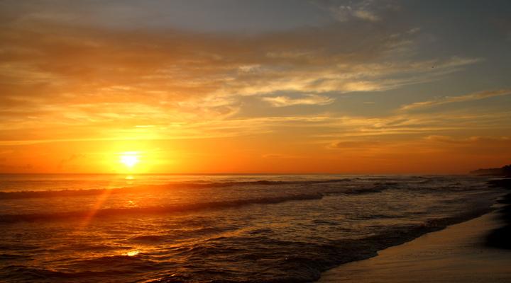 Tortuguero zonsondergang