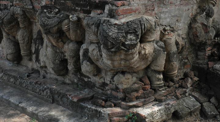 Ruine tempels Ayutthaya