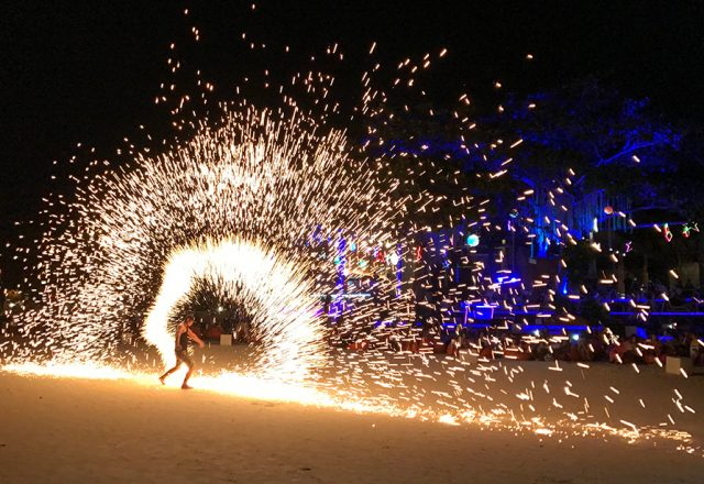 Vuurshow Koh Chang strand