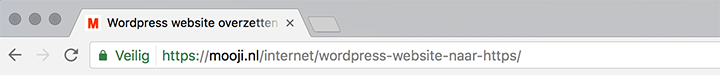 Wordpress website naar HTTPS