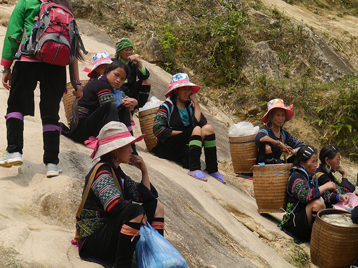 Traditionele bewoners Sapa Hmong